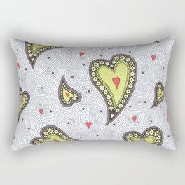 Ethno Hearts Rectangular Pillow