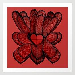 Meeting of Hearts - 3 Art Print
