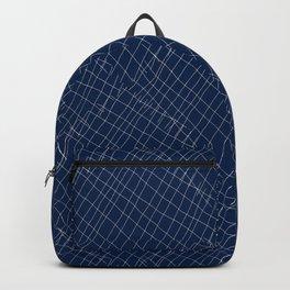 Japanese shibori dark blue indigo sapphire white Backpack