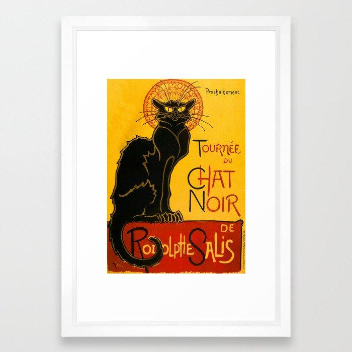 f5fa29a9d4b Le Chat Noir The Black Cat Art Nouveau Framed Art Print by artgallery