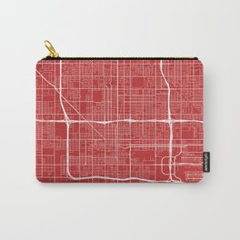 Phoenix Map, USA - Red Carry-All Pouch