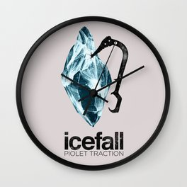 ICEFALL -PIOLET TRACTION- Wall Clock
