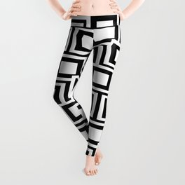 Black and White Squares Pattern 02 Leggings