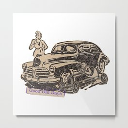 car racing Metal Print