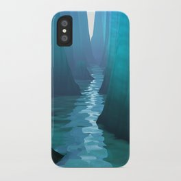 Blue Canyon River iPhone Case