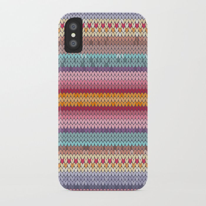 Knitting Pattern Iphone Case By Seafoam12 Society6