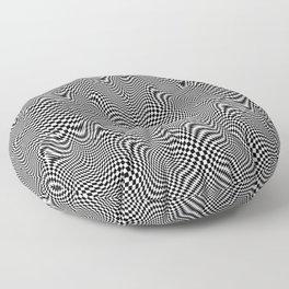 Checkered moire X Floor Pillow