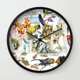 Costa Rica sketches Wall Clock