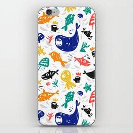 Sea characters iPhone Skin