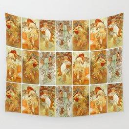 "Alphonse Mucha ""The Seasons (series)"" (1896) Wall Tapestry"