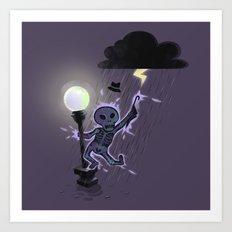 Singin'in the rain Art Print