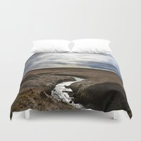 iceland Duvet Covers featuring iceland by katie moon