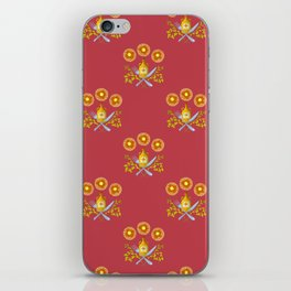 Waffle and Syrup (Raspberry Red) iPhone Skin