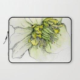 Watercolor Helleborus Laptop Sleeve