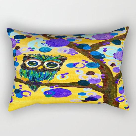 :: Sunshine Gemmy Owl :: Rectangular Pillow