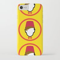 fez iPhone & iPod Cases featuring Man With Fez by Evan Ayres
