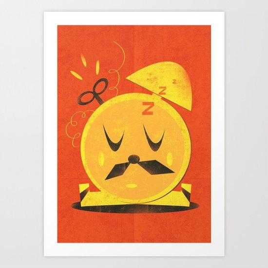 Mr. Clockoverworked ( 2010 ) Art Print