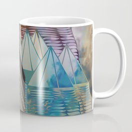 Triangular Endings on the Top Above the Clouds / Urban 04-11-16 Coffee Mug