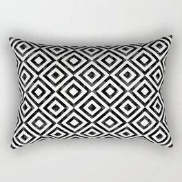 Black and white watercolor diamond pattern Rectangular Pillow