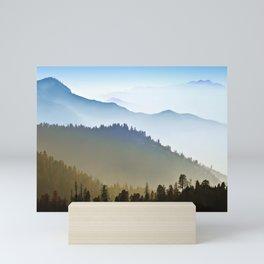 Foggy Mountain RIdges Ultra HD Mini Art Print