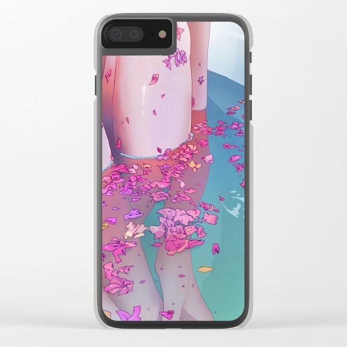 Flower Bath 4 Clear iPhone Case