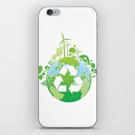 Green Planet iPhone Skin