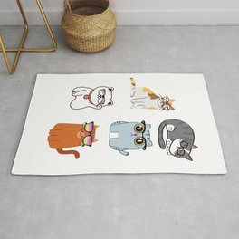 Cool Cats Stickers -  Pack Cats Stickers - Cats Eyeglasses Rug