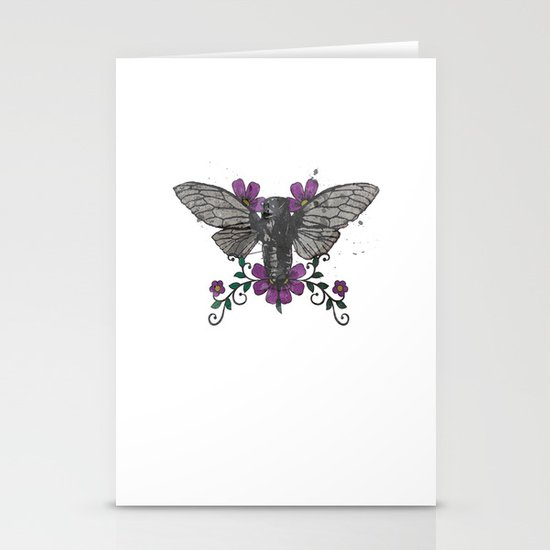 Seventeen Year Locust Stationery Cards