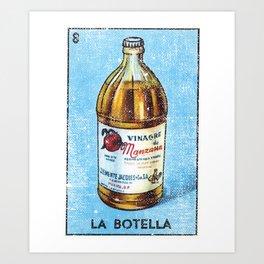 La Botella Mexican Loteria Bingo Card Art Print