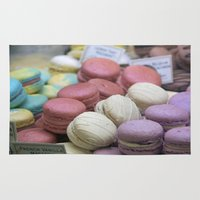macaroons Area & Throw Rugs featuring macaroons by redlinedesign®