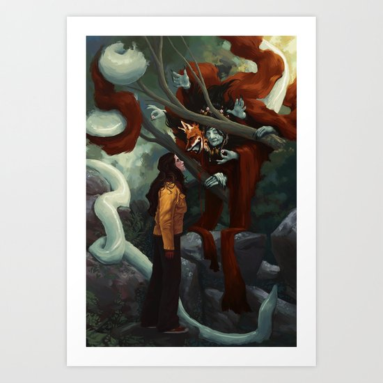 The Old Fox Art Print