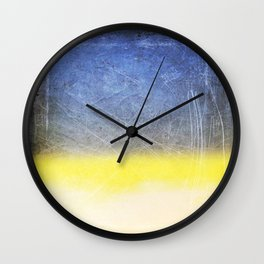 Reckoning of Cloudy Sunset Wall Clock