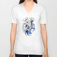 koi fish V-neck T-shirts featuring Koi Fish  by JonathanStephenHarris