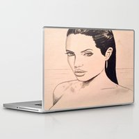 angelina jolie Laptop & iPad Skins featuring angelina jolie by Justinhotshotz