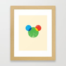a theory of color of a mouse Framed Art Print