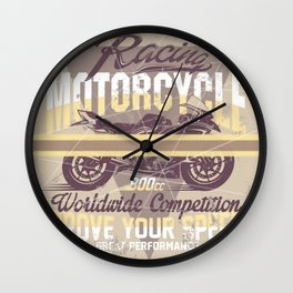 MotoBiKe RiDe 11 Wall Clock