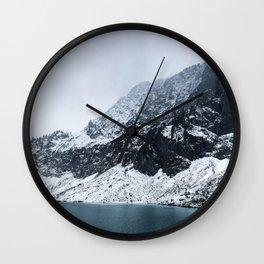 Alpine winter Wall Clock