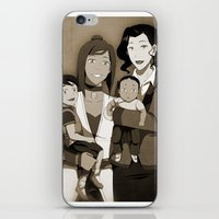 korrasami iPhone & iPod Skins featuring One Happy Family by sherbies