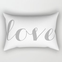 Love in gray Rectangular Pillow