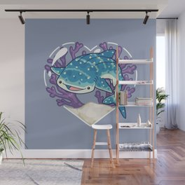 NOM the Whale Shark Wall Mural