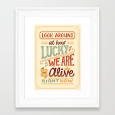 Look Around Framed Art Print