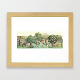 Sweet Tree Island Framed Art Print