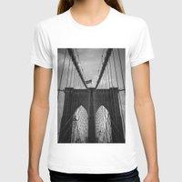 brooklyn bridge T-shirts featuring Brooklyn Bridge by Nicklas Gustafsson