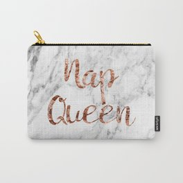 Nap queen - rose gold on marble Carry-All Pouch