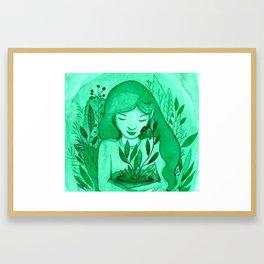 mutual green love Framed Art Print