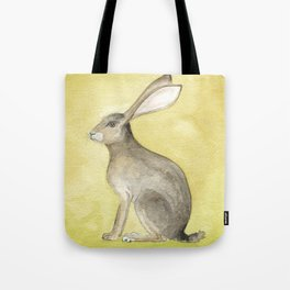 Goldenrod Hare Tote Bag