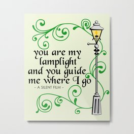 You Are My Lamplight (commission) Metal Print