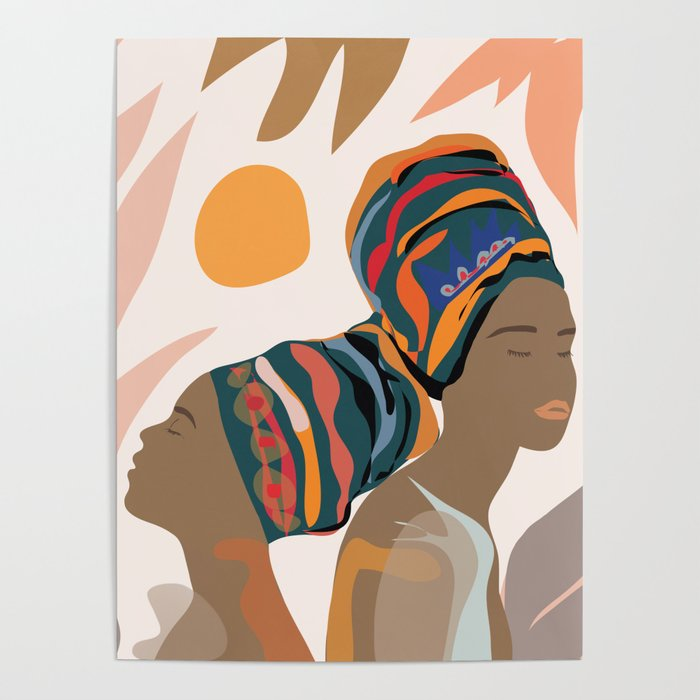 Women With The Turbans Poster by Society6