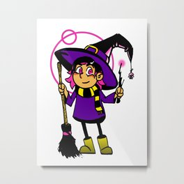 Chance the Witch Metal Print