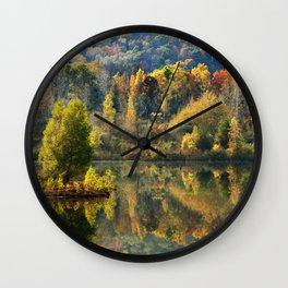 Fall Reflection Landscape Wall Clock